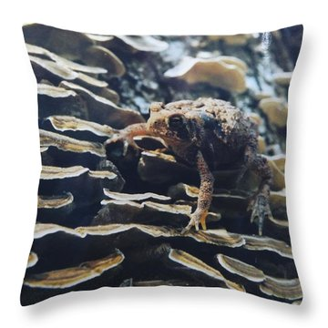 Adventurous Toad 2 Throw Pillow by Gerald Strine