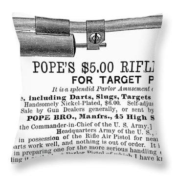 Advertisement: Air Pistol Throw Pillow by Granger