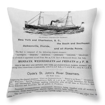 Advertisement: Steamship Throw Pillow by Granger