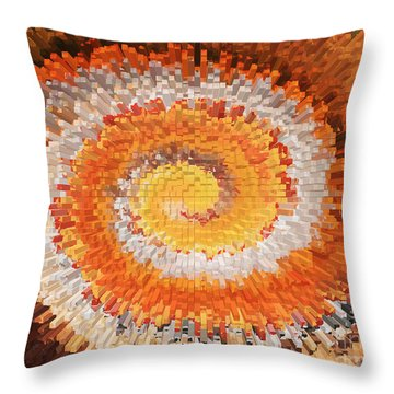 Aerial City Swirl Throw Pillow