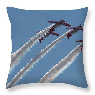 Aero Shell Team Throw Pillow by Julie Grace