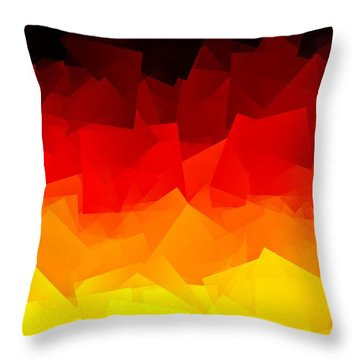 Throw Pillow featuring the digital art Afire by Jeff Iverson