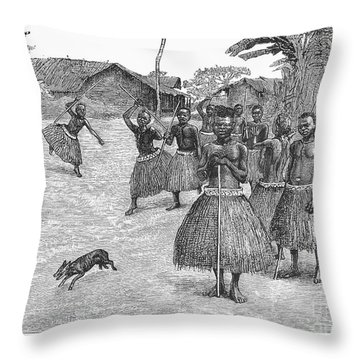 Africa: Ndoge Brotherhood Throw Pillow by Granger