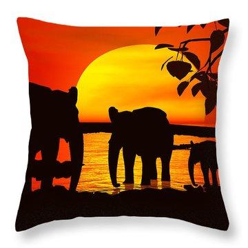 Africa Throw Pillow by Robert Orinski