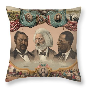 African Americans, C1881 Throw Pillow by Granger