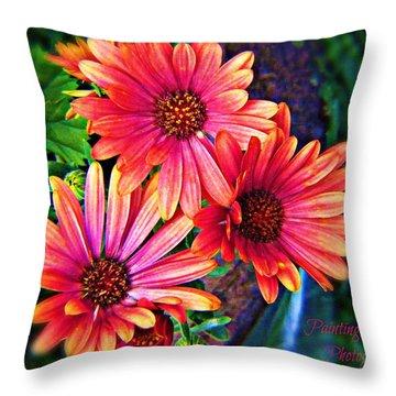 African Daisy Throw Pillow