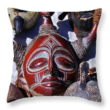 Throw Pillow featuring the photograph African Mask by Werner Lehmann