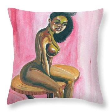 African Queen Throw Pillow