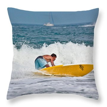 After Catching A Great Wave Throw Pillow by Ann Murphy