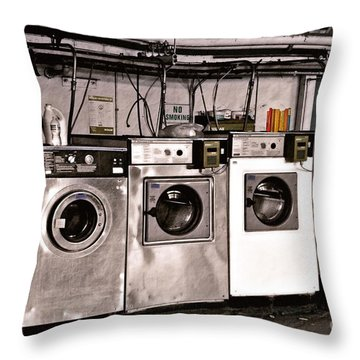 After Enlightenment The Laundry. Throw Pillow by Gwyn Newcombe