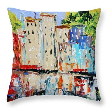 After Hours-reflection Throw Pillow by John Williams