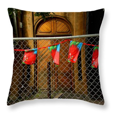 After The Quakes - No Go Zone Throw Pillow