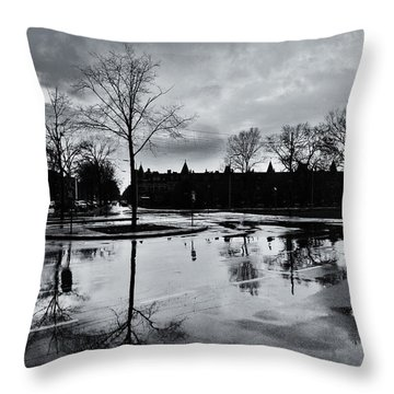 Den Haag After The Rain Throw Pillow