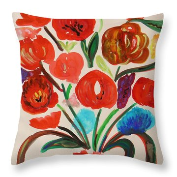 After The Rain Throw Pillow by Mary Carol Williams