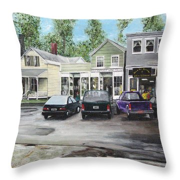 Throw Pillow featuring the painting After The Rain by Stuart B Yaeger