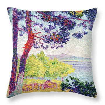 Afternoon At Pardigon Throw Pillow by Henri-Edmond Cross