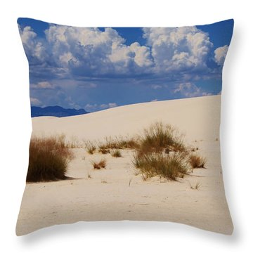 Throw Pillow featuring the photograph Afternoon At White Sands National Monument by Roena King