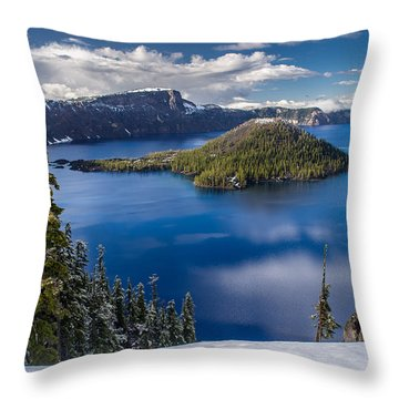 Afternoon Clearing At Crater Lake Throw Pillow by Greg Nyquist
