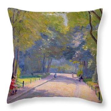 Afternoon In The Park Throw Pillow by Hippolyte Petitjean