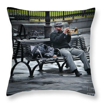 Afternoon Music Throw Pillow by Perry Webster