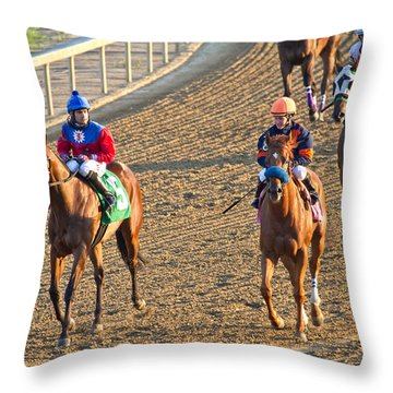 Afterwards Throw Pillow by Betsy Knapp