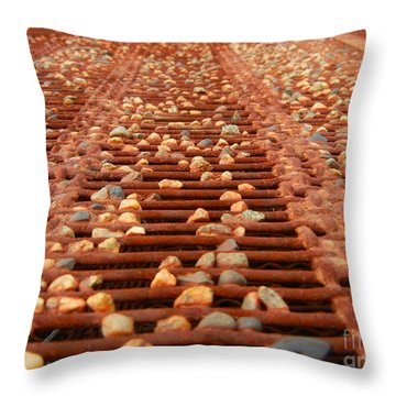 Against The Grate Throw Pillow