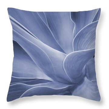 Agave In Blue Throw Pillow