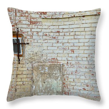 Aged Brick Wall With Character Throw Pillow by Nikki Marie Smith