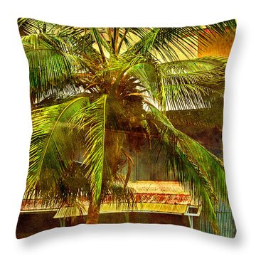 Aged Hawaiian Throw Pillow by Paulette B Wright
