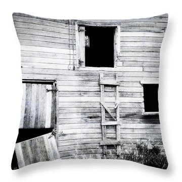 Aging Barn  Throw Pillow by Julie Hamilton
