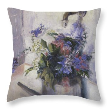 Agnes Floral Throw Pillow