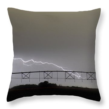 Agricultural Irrigation Lightning Bolts Throw Pillow by James BO  Insogna