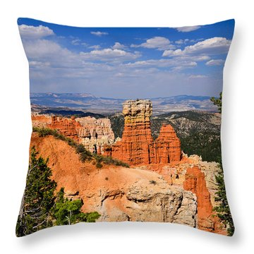 Agua Canyon Bryce Canyon National Park Throw Pillow by Greg Norrell