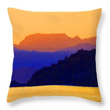 Throw Pillow featuring the photograph Agua Verde Abstract by Anne Mott