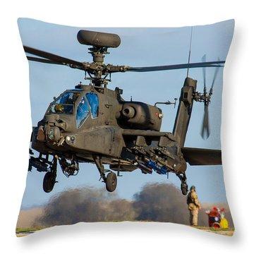 Ah64 Apache Throw Pillow by Ken Brannen