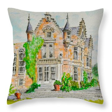 Aigas House 2 Throw Pillow