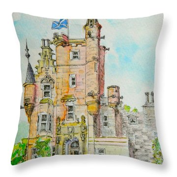 Aigas House Scotland Throw Pillow