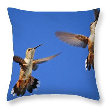 Air Dance Throw Pillow by Roena King