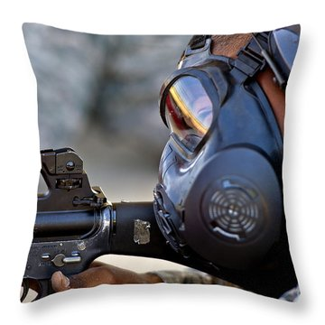 Air Force Basic Military Training Throw Pillow by Stocktrek Images