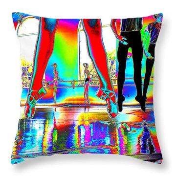 Airborne Elegance Throw Pillow