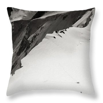 Akkem Wall. Western Plateau Throw Pillow by Konstantin Dikovsky