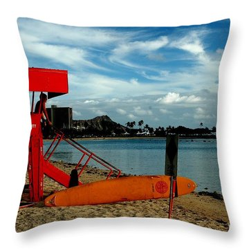 Ala Moana Throw Pillow by Mark Gilman