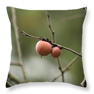 Alabama Wild Persimmons Throw Pillow