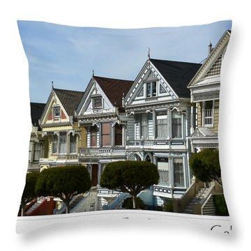 Alamo Square San Francisco California Throw Pillow
