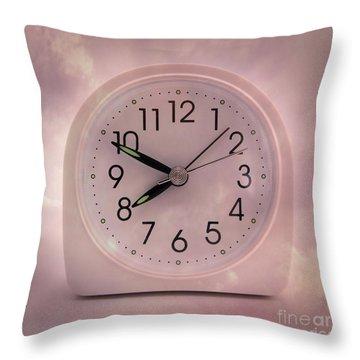 Alarrm Clock Throw Pillow by Bernard Jaubert