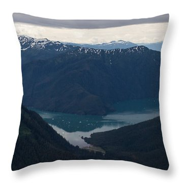 Alaska Coastal Serenity Throw Pillow