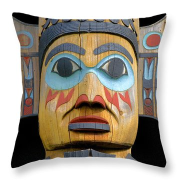 Alaska Totem Throw Pillow
