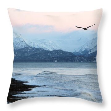 Throw Pillow featuring the photograph Alaskan Beach At Sunset by Michele Cornelius