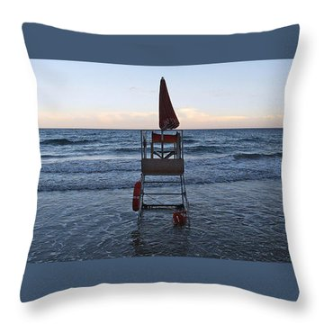 Alassio Sunset Facing East Throw Pillow