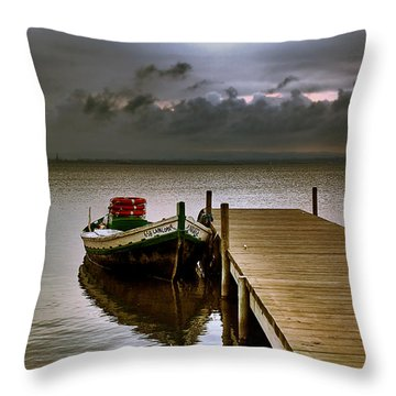 Albufera Before The Rain. Valencia. Spain Throw Pillow